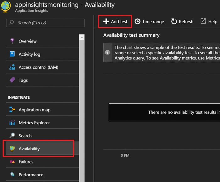Azure Monitoramento de Endpoints Application Insights 2
