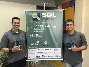 SQL Saturday 609 Caxias do Sul Marcel Goldhardt e MVP Rafael Felipe