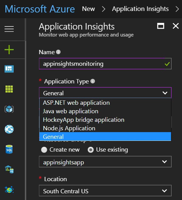 Azure Monitoramento de Endpoints Application Insights 1